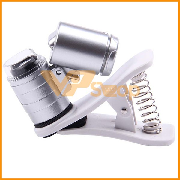 Universal 60X Optical Zoom Mobile Phone Microscope Micro Phone Lens Magnifier with Clip for Reading Jewelry Stamp Coin
