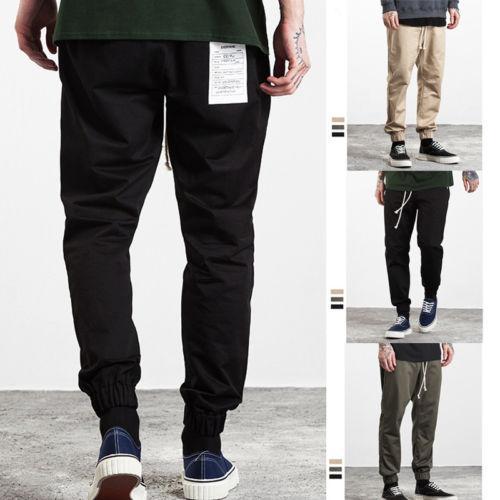 Marka Erkek Pantolon 2017 Yeni Moda Katı Renk Erkekler Rasgele Gevşek Pantolon Man Pantolon Tasarımcı Erkek Koşucular S-2XL