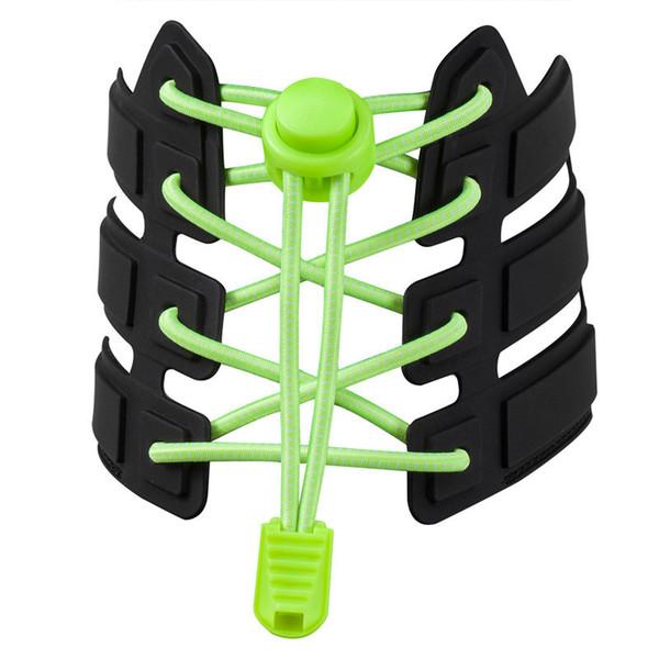 Sports Reflective Shoelaces Running Hiking Round Safty Lazy Buckle Elastic Band