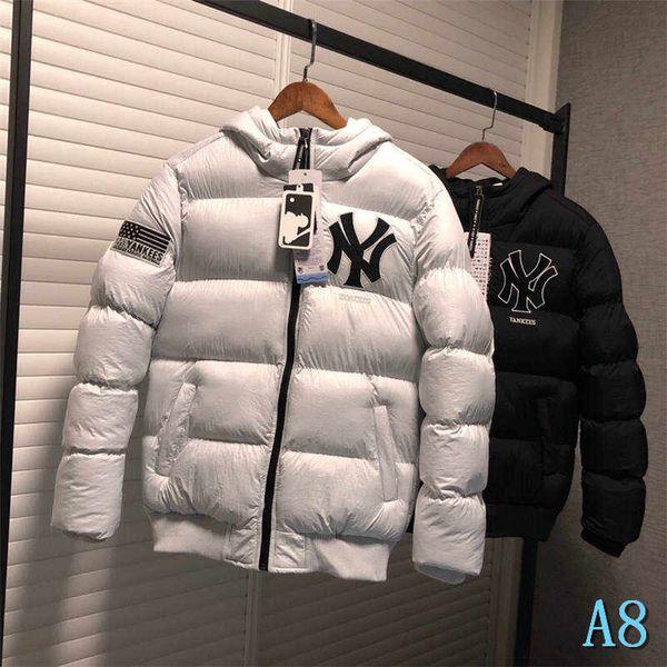 Für Männer Marken-Jacke mit Kapuze Thick Winter-Marke Windjacke Daunenmantel Reißverschluss Mode Tops Mode-Art für Männer Frauen Letters PrintA8