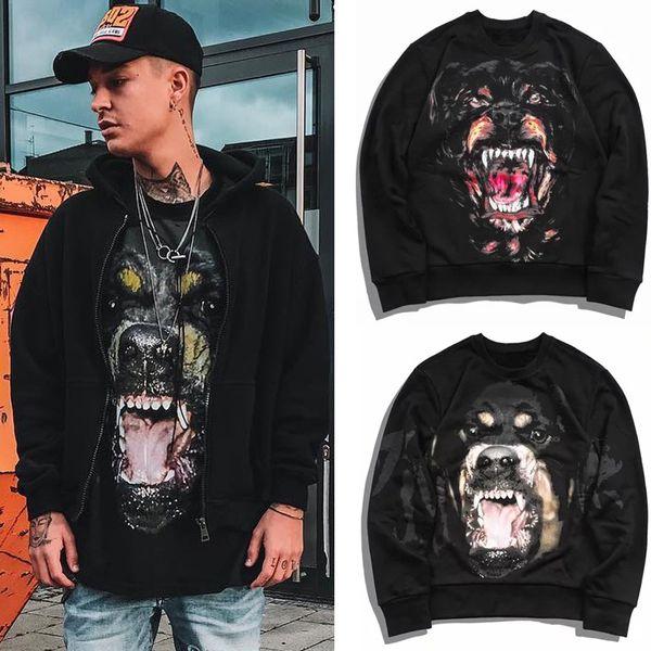 Männer Designer Casual Rottweiler Hund Sweatshirt Fleece Dicke Baumwolle Warme Sweat Hoodie Pullover Street Fashion Wear
