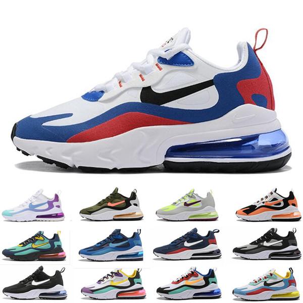 Nike Air max 270 V2 reagiscono scarpe da corsa per gli uomini le donne trainer Bauhaus mens triple nero Aurora destro Violet sbiancato corallo profondo Reali corridore TT6969 sport