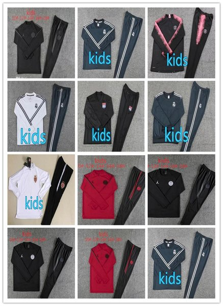 18 19Jordam kids Champions League Paris jacket tracksuit 2018-19 Survetement MBAPPE CAVANI soccer jackets training suit maillot de foot psg