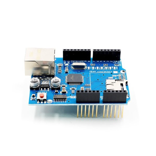 Arsmundi Ethernet Shield W5100 Network Expansion Board Module For Main Board UNO R3 ATMega 328 1280 MEGA2560 With Micro SD One