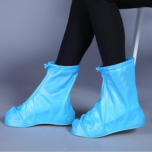 cubierta para zapatos resistente al desgaste 360 grados de grosor Cubierta impermeable para zapatos color blanco cubierta para zapatos de lluvia