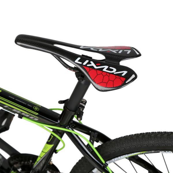 Lightweight Full Carbon Fiber Saddle MTB Mountain Bike Seat Road Bike Cycling Hollow Black Glossy Bicycle Seat 275*143mm