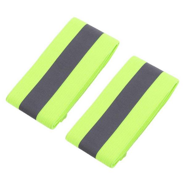 2 Unids / par Elástico Bandas de Muñeca Del Tobillo del brazo Para Waling Ciclismo Correr Deportes Al Aire Libre Banda de Alta Visibilidad Pulseras Reflectantes