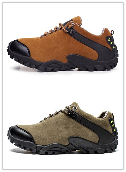 CAMEL Men Outdoor Sports Hiking Shoes Leather Anti-skid Shock Absorption Breathable Comfortable Camping Hiking Trekking foot Sneakers 3A 05