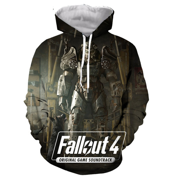 Hot Video Game Fallout cool funny 3D print men hooded hoodie sweatshirt fashion graphic hoodie casual streetwear pullover