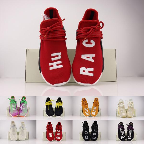 2019 İnsan Yarışı colette mutlu Nerd Nefes Koşucu Runner Orijinal Yeni Koşu Ayakkabı Erkekler Kadınlar Pharrell Williams HU Primeknit Spor Sneaker