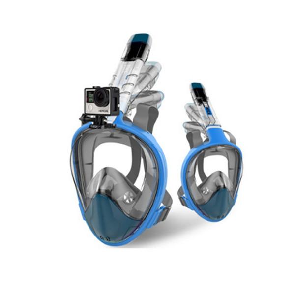 Swimming Diving Mask Women Men Kids Foldable Underwater Anti Fog Full Face Snorkeling Mask with Detachable Camera Mount Snorkel