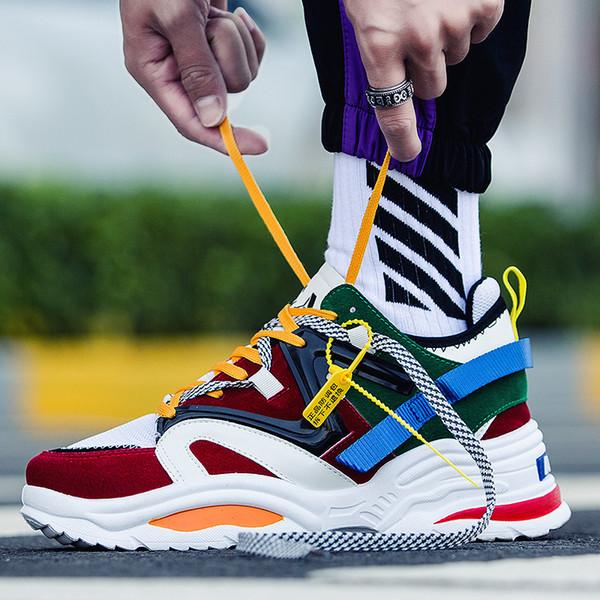 Scarpe da uomo di marca Scarpe da esterno casual Scarpe da ginnastica da uomo Scarpe da ginnastica in mesh traspirante Scarpe da uomo unisex Colorate scarpe con fondo maschile