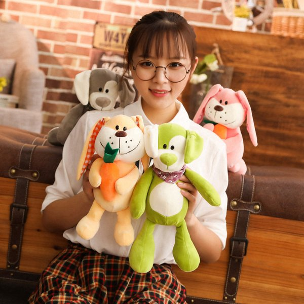 New Style Plush Stuffed Cute Appease Rabbit Dog Animal Toys Infant Baby Comfort Dolls For Children Kids Birthday Pretty Gift