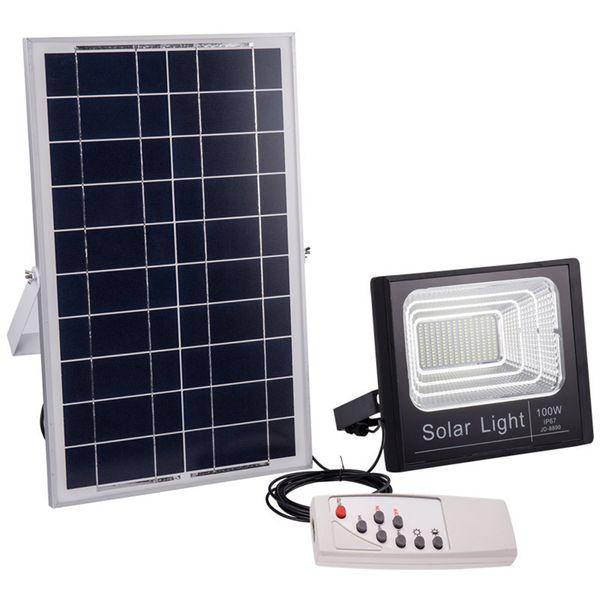 Солнечный IP67 Прожектор 120 Вт 100 Вт 50 Вт 30 Вт 20 Вт 10 Вт 80-90LM / W Power Cell Панель Батареи Открытый Водонепроницаемый Промышленные Лампы Фары Пульт Дистанционного Управления