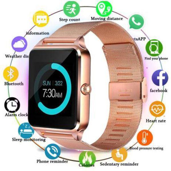 top popular Smart Watch Smart Watch 1.54 Inch Color Screen Step Sleep Monitoring Alarm Clock Smart Wear Bluetooth Card Sports Watchs FOR: IPHONE Samsung 2020