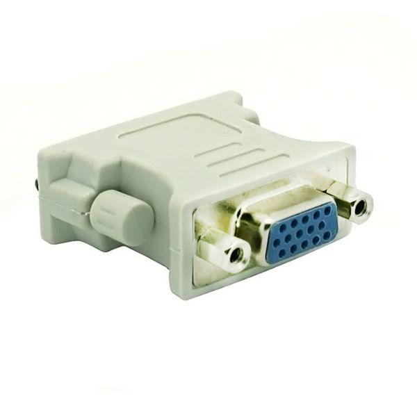 Toptan DVI DVI-I Erkek 24 + 1 Pin VGA Kadın Video Dönüştürücü Adaptör Tak DVD HDTV TV D için 300 adet