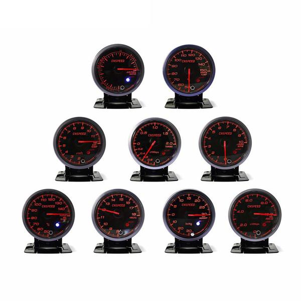 Kit de medidor de coche modificado universal para automóvil, carreras de 2,5 pulgadas (60 mm) 12 V luz blanca luz blanca medidor de impulso del medidor de automóvil