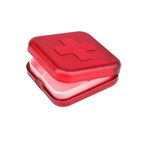 New Portable 4 Slot Medicine Case Organizer Plastic Pill Boxes Container Compartment Medicine Tablet Holder TB Sale