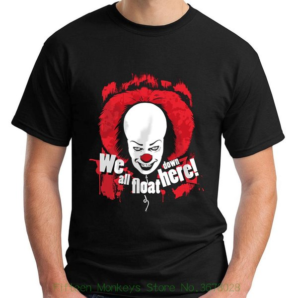 New Short Sleeve Round Collar New Stephen King's It We All Float Down Here Black Men's T-shirt Size S 5xl