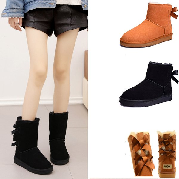 Mini Womens Classic ankle Boot FOR MEN Fashion Genuine Suede Leather Australia Classic Warm WALKING Shoes Woman mens outdoor designer shoes