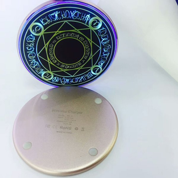 hot metal Comic Magic Array Wireless Charger 10W Qi Wireless Universal Fast Charging pad for iPhone charger Samsung Smartphone