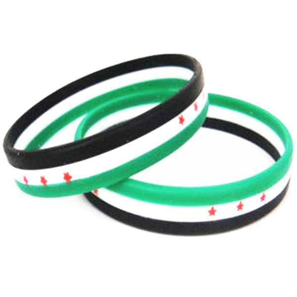 syria syrian people stand up fighting we stand up together sport silicone racelet wristband shipping