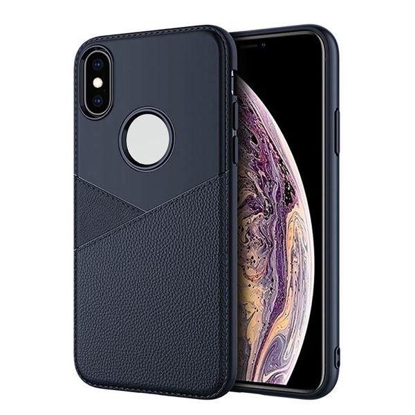 Caso de telefone de negócios para iphone x xr xs max 8 7 6 6 s além de couro case para iphone x xr xs 7 8 macio tpu tampa traseira funda