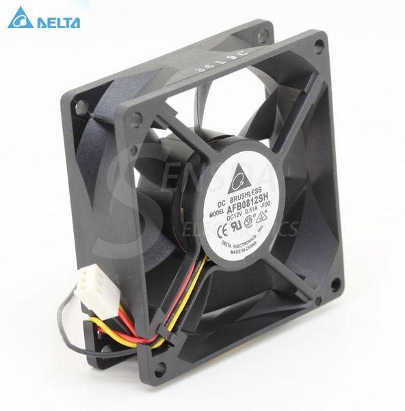 Original For Delta AFB0812SH -F00 8025 80mm 8cm DC 12V 0.51A speed computer case cpu server inverter cooling fans axial cooler