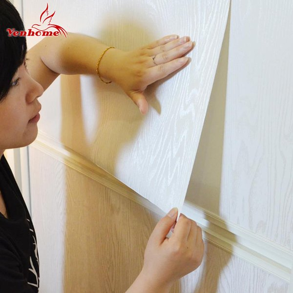 PVC Wood Grain Wall Stickers Thick Oil-proof Waterproof Cupboard Wallpaper Self-adhesive DIY Furniture Renovation New Home Decor