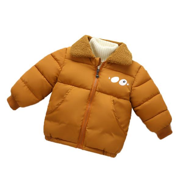 good quality 2019 New Boy's Down Jacket Kids Thicken Warm Coat Fashion Children's Winter Jacket Boys Girls Parkas Fur Lapel Jacket