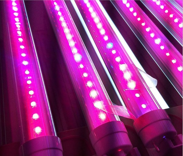 Free Ship 1 T5 Led Grow Light Led Grow Tube Growing Lamp With Switch Wire For Flowers Fruits Hydro Plants Vegetables Led Plantas Garden Lighting Kits