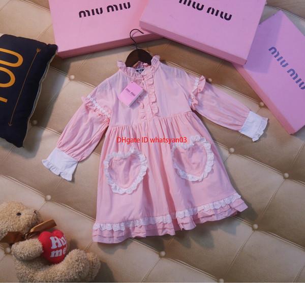 Girls dress children's designer clothing 2019 autumn new princess dress girls little fairy foreign high-end children's evening dress