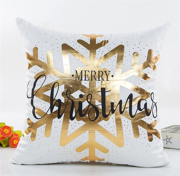 2018 Newest 45*45CM Christmas Pillow Case without pillow core for Chiristmas Gift Different Colors can choose DHL Free