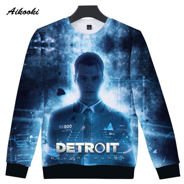Hot Sale Detroit Become Human 3D Capless Sweatshirt kpop Boys/Girls Capless Polluver 3D Hoodies Men/Women Hip Hop Sweatshirt