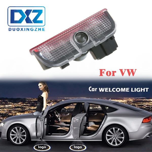 2 шт. Беспроводная автомобильная дверь LED Добро пожаловать Свет Проектор Лазерный Логотип Призрак 3D Shadow light для Volkswagen VW Passat B5
