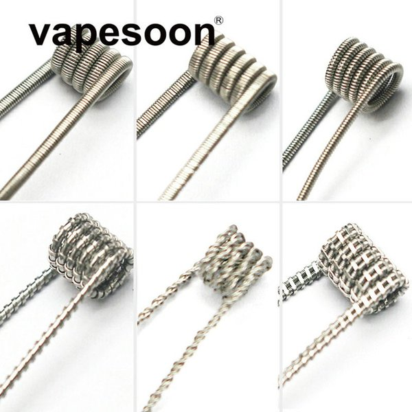 DHL Shiiping Fancy Ni80 Prebuilt Coil Alien clapton Juggernaut Staggered Premade Coils for e-Cigarette RDA RTA RBA Atomizer Heating Wire