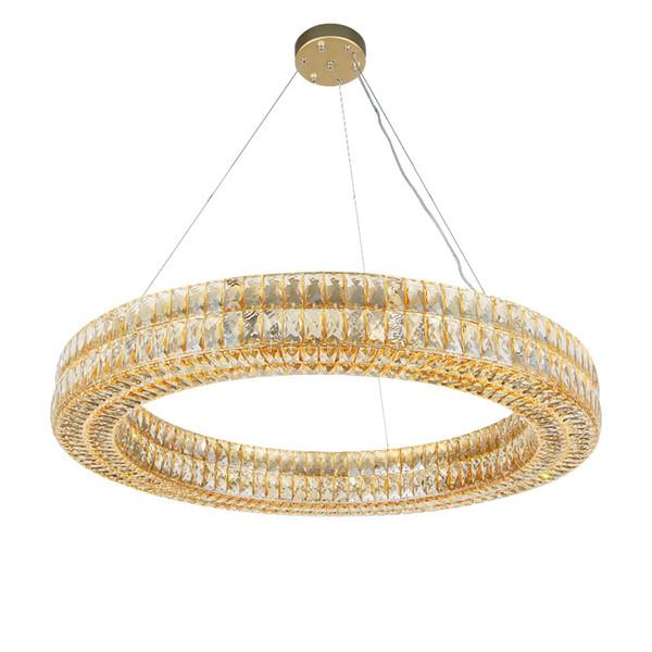 Moderno y lujoso acabado en plata dorada, lámpara de cristal redonda, RH, luces de diseño para el hogar de luces de diamante para la sala de estar dormitorio