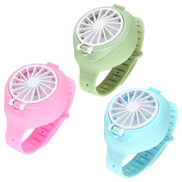 best selling Cooling Mini Watch Fan Handheld fan Student Creative Small Wrist Mute Summer Fan For Indoors Or Outdoors Traveling JK2006