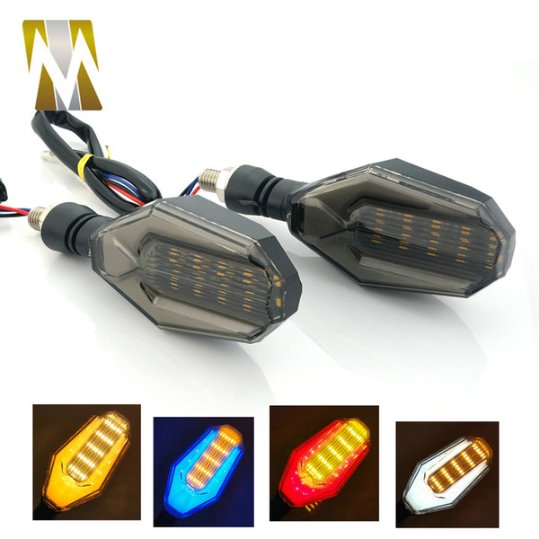 2PCS 12V LED Universal Motorcycle Turning Signal Indicator Light Lamp Moto Flasher For Kawasaki/Honda/Suzuk/KTM With 8mm Bolt