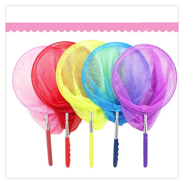 Extendable Nylon Insect Net Telescopic Butterfly Net Bug Catcher Nets Fishing Tool for Kids Toy Easily Catch
