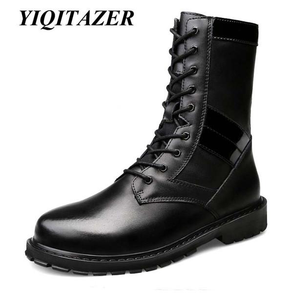 De Acheter De Geniune Chaussures YIQITAZER Bottes À L'intérieur Bottes Amry En Homme Cuir Hommes ChaussuresLaine Hiver Fourrure Neige De 2018 wOnmN8v0
