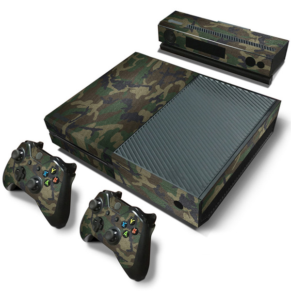 Fanstore Skin Sticker Vinyl Decal Joystick Skin Camo Designs for Xbox One Console and 2 Remote Controller