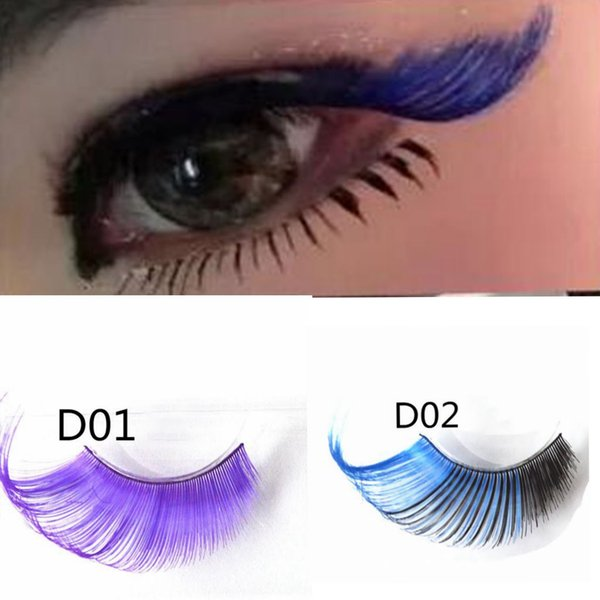 91fdabe09ec Art False Eyelashes Handmade False Eyelashes Photography Creative Thick False  lashes Party Stage Eyelashes 3 color