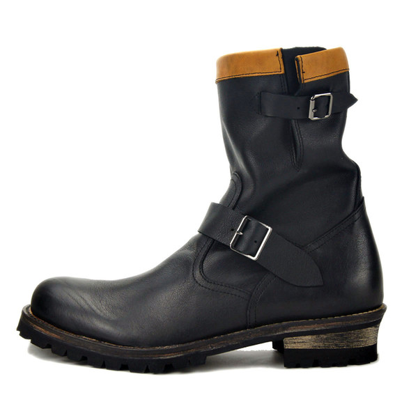 spring Boots Mens Zipper Genuine Leather Martin boots men Ankle boots Dress Casual Designer shoes footwear