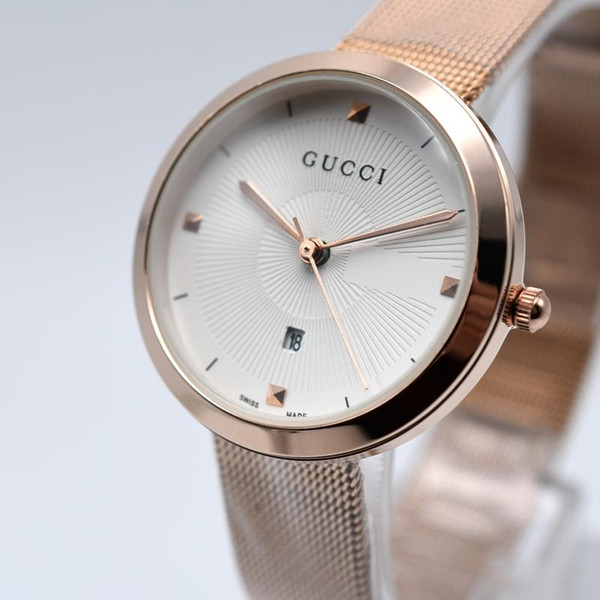 2019 senhoras da marca de moda de quartzo relógio casual senhoras relógio de aço inoxidável pequeno trabalho de discagem Relogio masculino senhoras relógio de quartzo CGG