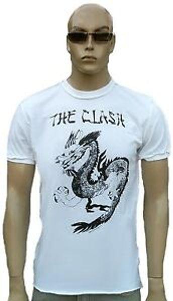 Weinlese verstärkte das Zusammentreffen-Drache RoShirt Stern Cousu ExtériShirt Vip T-Shirt XL / XXL