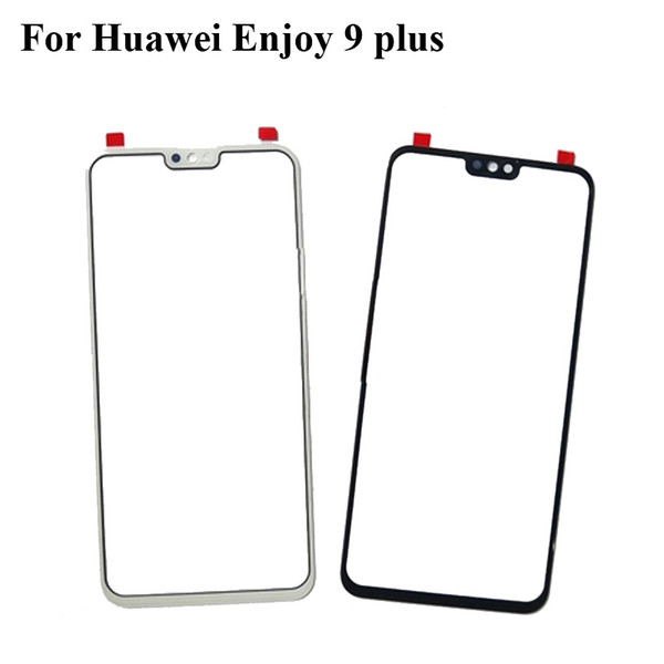 Black For Huawei Enjoy 9 plus Glass Lens touchscreen Touch screen Outer Screen For Huawei Enjoy9 plus Glass Cover without flex