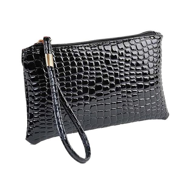 Women handbag phone bag Vintage solid Crocodile Leather Clutch Handbag Bag Coin Purse mini sac main femme bolso mujer bolsos
