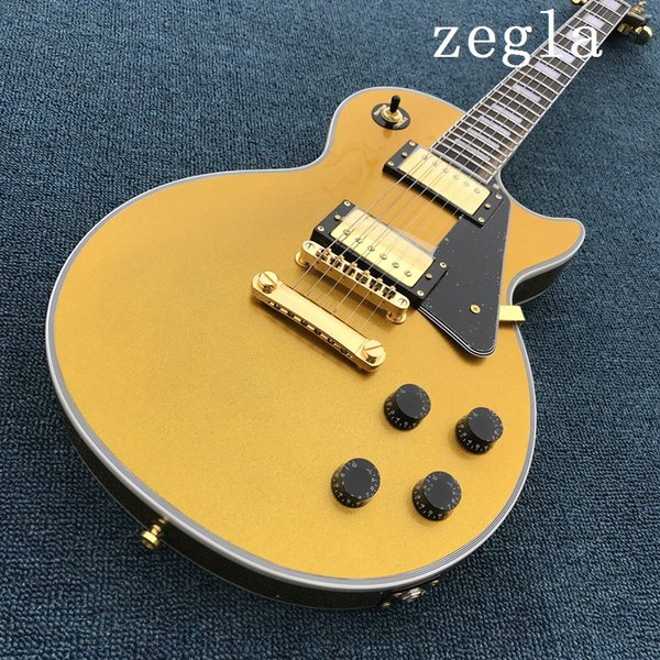 Top Quality New arrive Custom Shop yellow Electric Guitar, Wholesale, Real photo shows