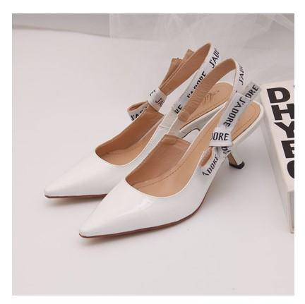 best selling Hot Sale- Letter Bow Knot High Heel Shoes Women Runway Pointed Toe Low Heel Shoes Woman Gladiaor Sandals Lady Brand Design Mesh Flat Shoes
